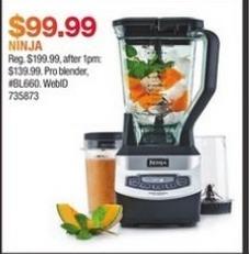 Macy's Black Friday: Ninja Pro Blender for $99.99