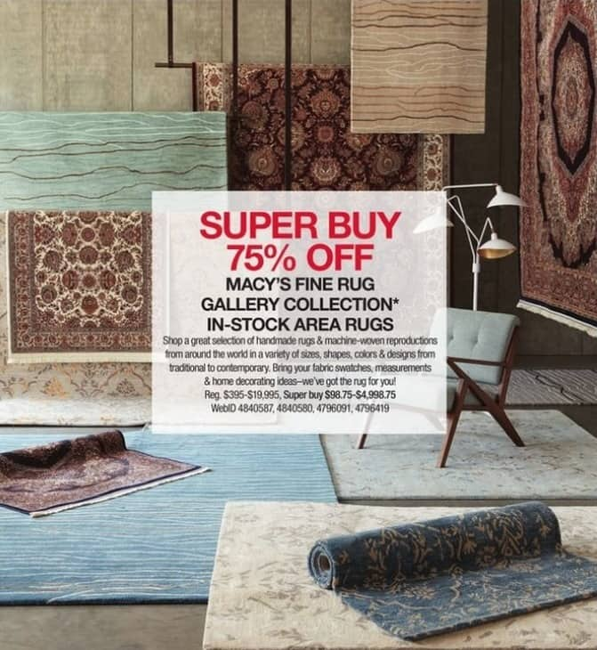 Macy's Black Friday: Macy's Fine Rug Gallery Collection In-Stock Area Rugs - 75% Off