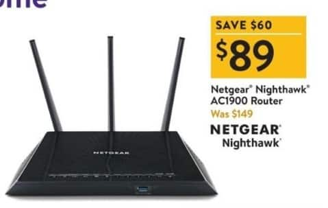 Walmart Black Friday: Netgear Nighthawk AC1900 Router for $89.00