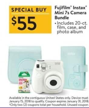 Walmart Black Friday: Fujifilm Instax Mini 7s Camera Bundle for $55.00