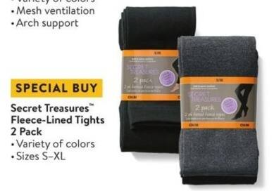 46057dfc2a394 Walmart Black Friday: Secret Treasures Fleece-Lined Tights (2-pk) for $4.50