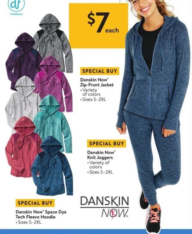 Walmart Black Friday: Danskin Now Space Dye Tech Fleece Hoodie (S-2XL) for $7.00