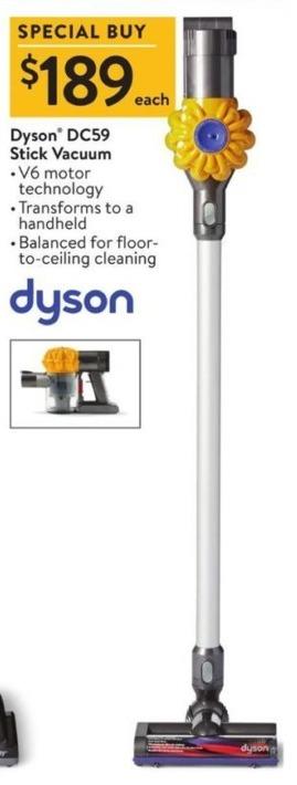 Walmart Black Friday: Dyson DC59 Stick Vacuum for $189 00