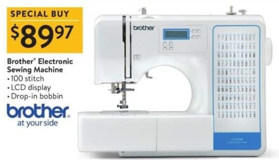 Walmart Black Friday: Brother Electronic Sewing Machine for $89.97