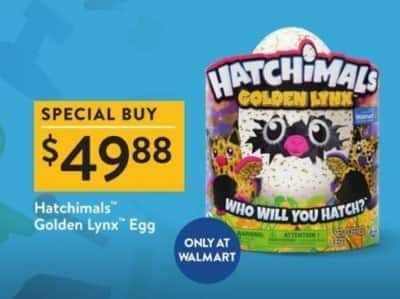 Walmart Black Friday: Hatchimals Golden Lynx for $49.88