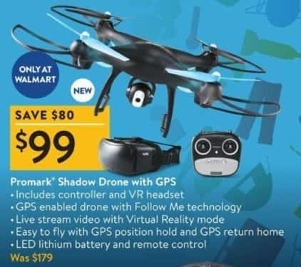 Walmart Black Friday: Promark Shadow Drone with GPS for $99.00