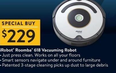 Walmart Black Friday: iRobot Roomba 618 Vacuuming Robot for $229.00