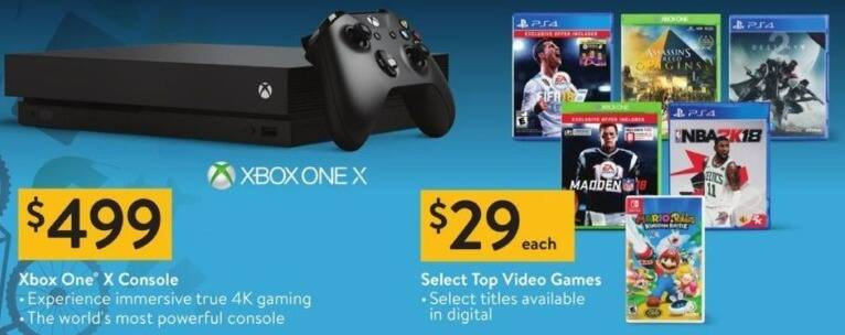 Walmart Black Friday: Select Video Games: Destiny 2, Assassin's Creed Origins and More, Each for $29.00
