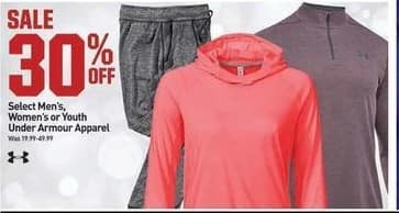 Dicks Sporting Goods Black Friday: Select Under Armour Men's, Women's or Kids' Apparel - 30% Off