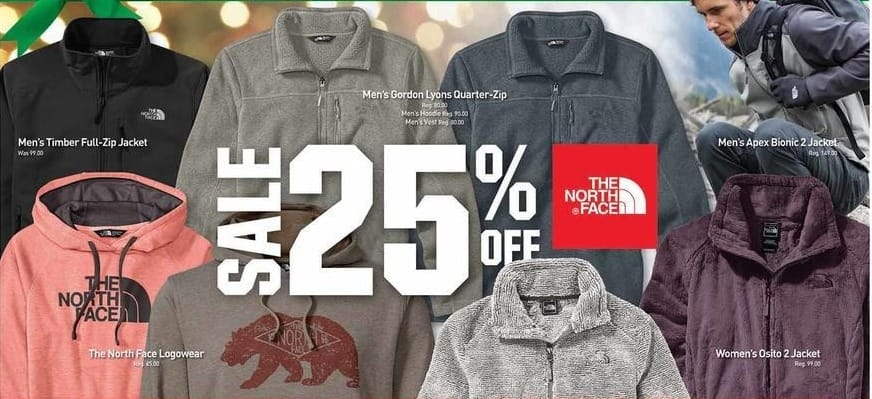 Dicks Sporting Goods Black Friday: Select The North Face Apparel: Men's Timber Full-Zip Jacket, Women's Osito 2 Jacket and More - 25% Off