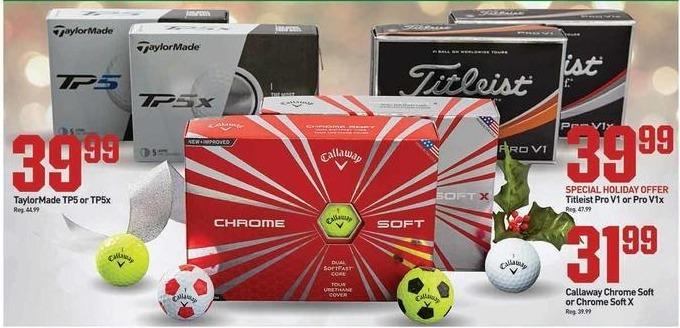 Dicks Sporting Goods Black Friday: Callaway Chrome Soft or Chrome Soft X for $31.99