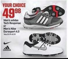 Dicks Sporting Goods Black Friday: Adidas Men's Tech Response or Nike Men's Durasport 4.0 for $49.98