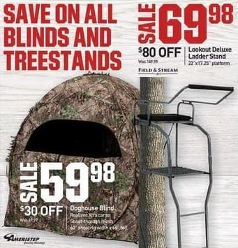 Dicks Sporting Goods Black Friday: Lookout Deluxe Ladder Stand for $69.98