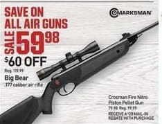 Dicks Sporting Goods Black Friday: Big Bear .177 Caliber Air Rifle for $59.98