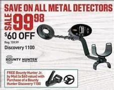 Dicks Sporting Goods Black Friday: Bounty Hunter Discovery 1100 Metal Detector for $99.98