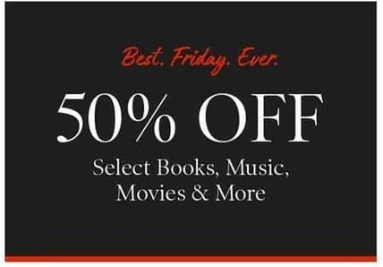 Barnes & Noble Black Friday: Select Books, Music, Movies and More - 50% Off