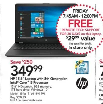 Office Depot and OfficeMax Black Friday: HP 15-bs191od 15 6
