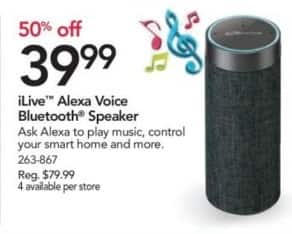 Office Depot and OfficeMax Black Friday: iLive Alexa Voice Bluetooth Speaker for $39.99