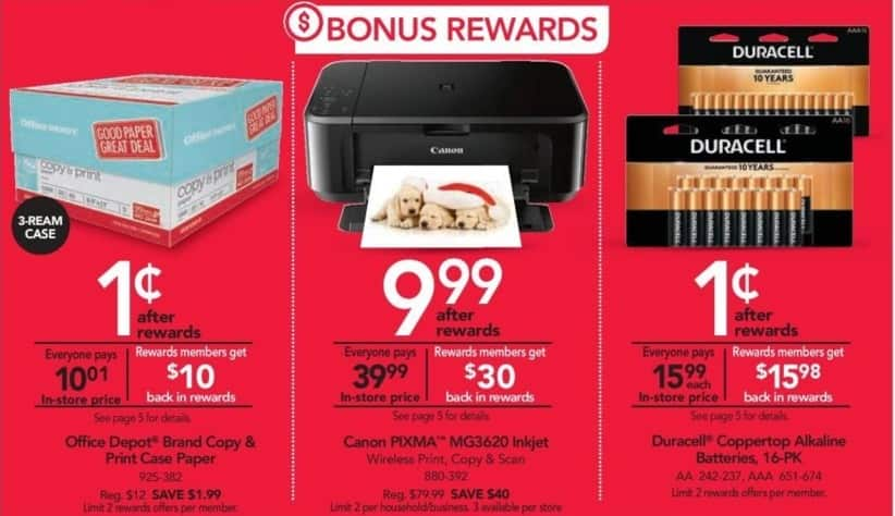 Office Depot and OfficeMax Black Friday: Canon Pixma MG3620 Inkjet Wireless Printer w/Rewards Card for $9.99