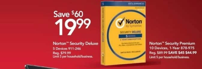 Office Depot and OfficeMax Black Friday: Norton Security Premium for $44.99