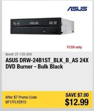 Newegg Black Friday: ASUS DVD Burner for $12.99