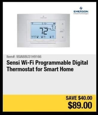 Newegg Black Friday: Sensi Wi-Fi Programmable Digital Thermostat for $89.00