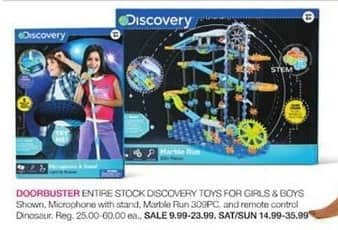 Stage Stores Black Friday: Entire Stock Discovery Toys for Girls & Boys for $9.99 - $23.99