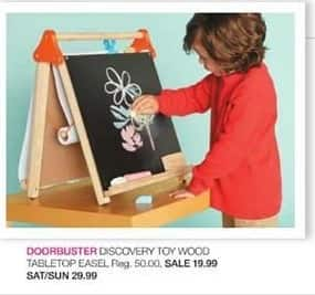 Stage Stores Black Friday: Discovery Toy Wood Tabletop Easel for $19.99