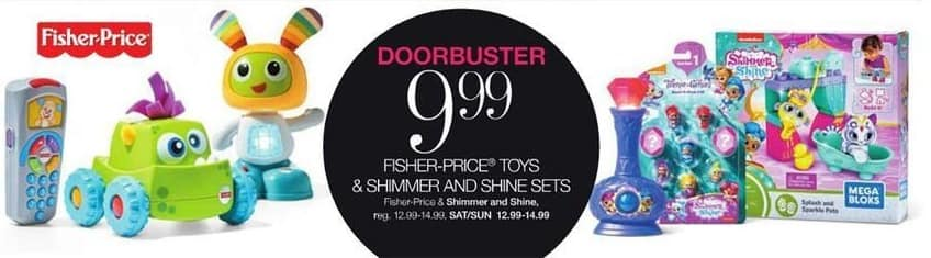 Stage Stores Black Friday: Fisher-Price Toys & Shimmer And Shine Sets for $9.99