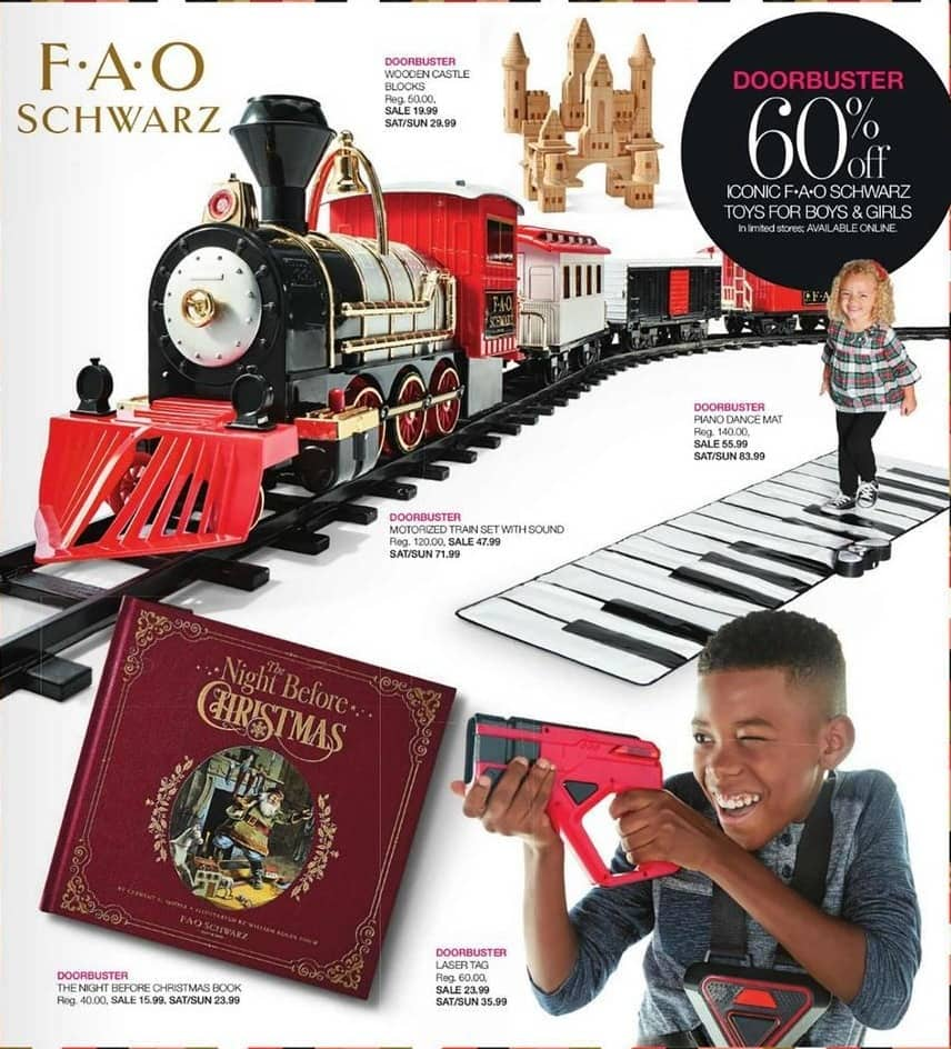 Stage Stores Black Friday: FAO Schwarz Motorized Train Set with Sound for $47.99