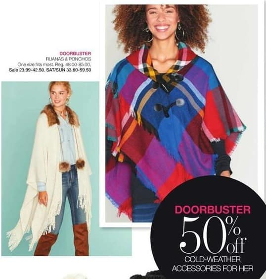 Stage Stores Black Friday: Ruanas and Ponchos for $23.99 - $42.50