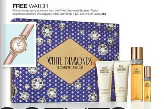 Stage Stores Black Friday: Free Watch with Any White Diamonds Elizabeth Taylor Large Spray - Free w/Purchase