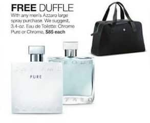 Stage Stores Black Friday: Free Duffle with Any Men's Azzaro Large Spray - Free w/Purchase