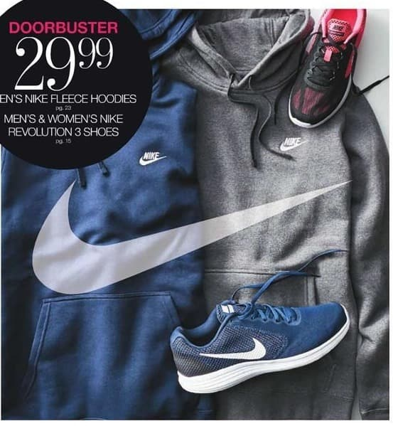 Stage Stores Black Friday: Men's Nike Fleece Hoodie or Men's & Women's Nike Revolution 3 Shoes for $29.99