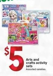 Kmart Black Friday: Assorted Arts and Crafts Activity Sets for $5.00