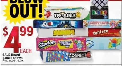 Kmart Black Friday: Select Board Games, Each for $4.99