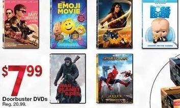 Kmart Black Friday: Select Doorbuster DVDs for $7.99