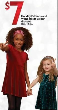 Kmart Black Friday: Holiday Editions and Wonderkids Velour Dresses for $7.00