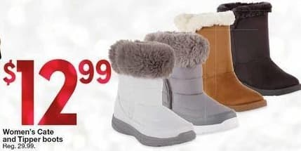 Kmart Black Friday: Women's Cate and Tipper Boots for $12.99