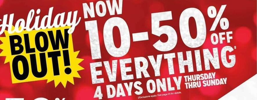 Kmart Black Friday: Entire Stock - 10-50% Off