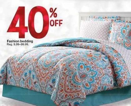 Kmart Black Friday: Fashion Bedding - 40% Off