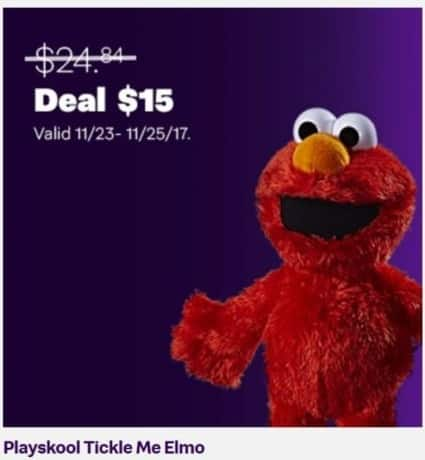 Jet.com Black Friday: Playskool Tickle Me Elmo for $15.00