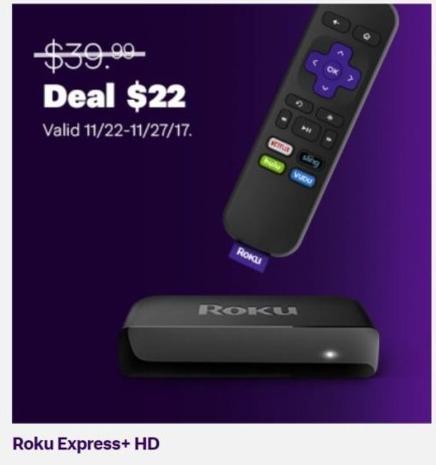 Jet.com Black Friday: Roku Express+ HD for $22.00