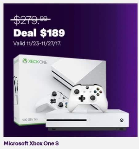 Jet.com Black Friday: Microsoft Xbox One S for $189.00