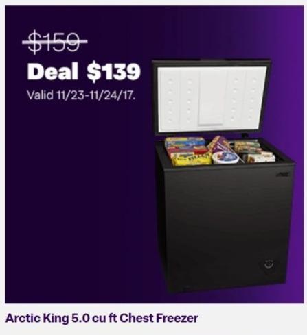 Jet.com Black Friday: Arctic King 5.0 cu. ft. Chest Freezer for $139.00