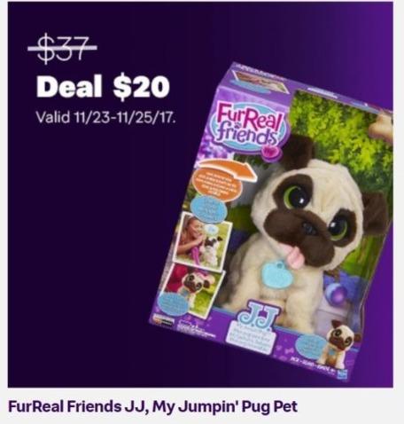 Jet.com Black Friday: FurReal Friends JJ, My Jumpin' Pug Pet for $20.00