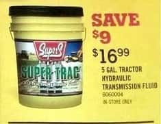 Tractor Supply Co Black Friday: 5-Gal. Tractor Hydraulic Transmission Fluid for $16.99