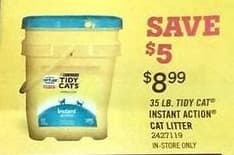 Tractor Supply Co Black Friday: 35-lb. Tidy Cat Instant Action Cat Litter for $8.99