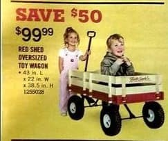 Tractor Supply Co Black Friday: Red Shed Oversized Toy Wagon for $99.99