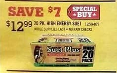 Tractor Supply Co Black Friday: 20-pk. High Energy Suet for $12.99